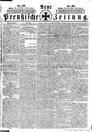 Neue preußische Zeitung vom 03.03.1858