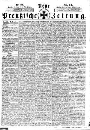 Neue preußische Zeitung vom 05.03.1858