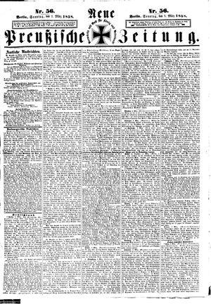Neue preußische Zeitung on Mar 7, 1858