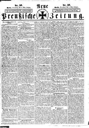 Neue preußische Zeitung vom 09.03.1858