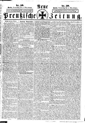 Neue preußische Zeitung vom 11.03.1858