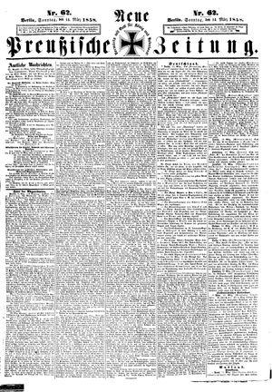 Neue preußische Zeitung vom 14.03.1858