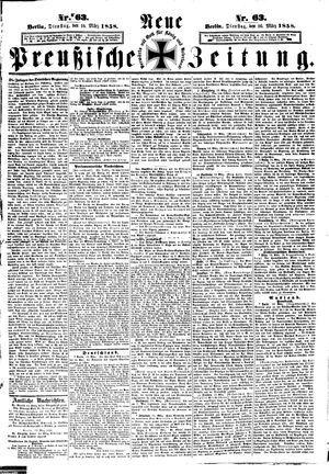 Neue preußische Zeitung vom 16.03.1858