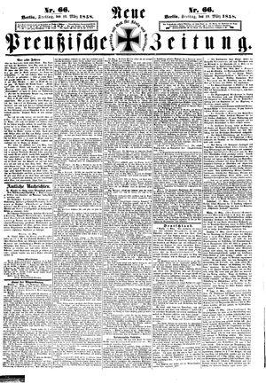 Neue preußische Zeitung vom 19.03.1858