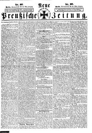 Neue preußische Zeitung vom 20.03.1858