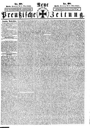 Neue preußische Zeitung vom 21.03.1858