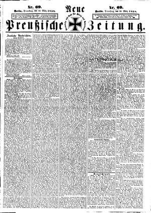 Neue preußische Zeitung vom 23.03.1858