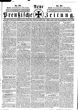 Neue preußische Zeitung vom 25.03.1858