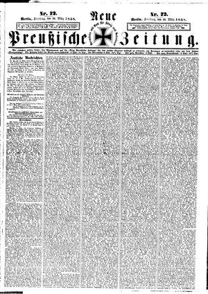 Neue preußische Zeitung vom 26.03.1858