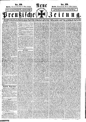 Neue preußische Zeitung vom 27.03.1858