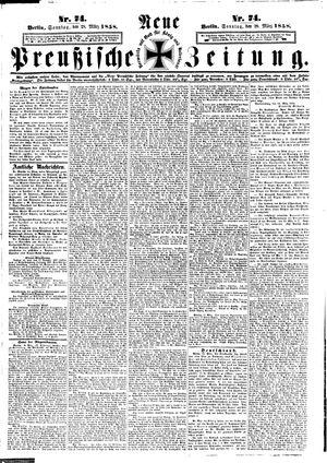 Neue preußische Zeitung vom 28.03.1858