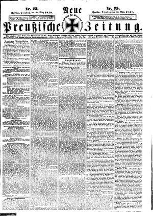 Neue preußische Zeitung vom 30.03.1858
