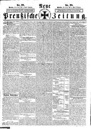 Neue preußische Zeitung on Apr 2, 1858