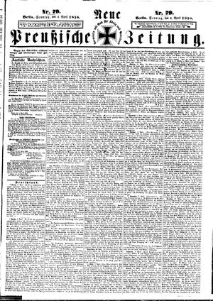 Neue preußische Zeitung vom 04.04.1858