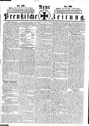 Neue preußische Zeitung vom 07.04.1858