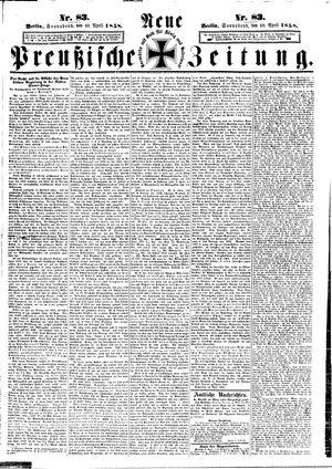 Neue preußische Zeitung vom 10.04.1858