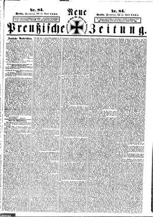 Neue preußische Zeitung vom 11.04.1858