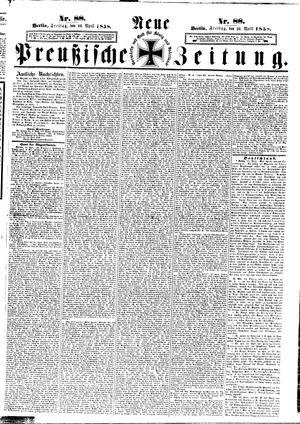 Neue preußische Zeitung vom 16.04.1858