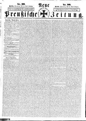 Neue preußische Zeitung vom 18.04.1858