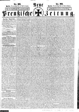 Neue preußische Zeitung on Apr 22, 1858