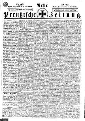 Neue preußische Zeitung vom 24.04.1858