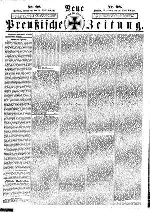 Neue preußische Zeitung vom 28.04.1858