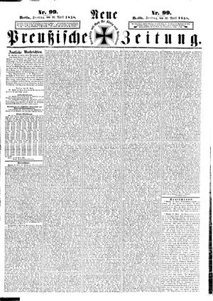Neue preußische Zeitung vom 30.04.1858