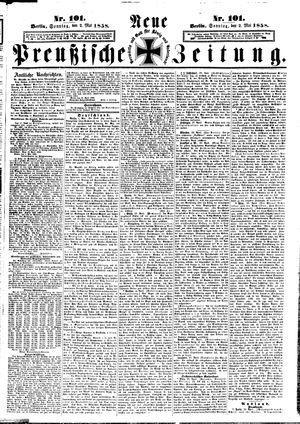 Neue preußische Zeitung vom 02.05.1858