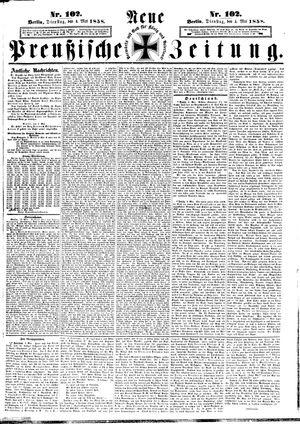 Neue preußische Zeitung vom 04.05.1858