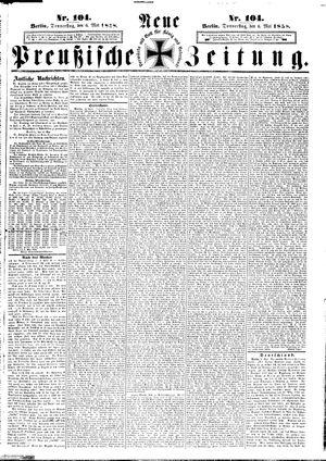 Neue preußische Zeitung vom 06.05.1858