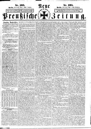 Neue preußische Zeitung vom 07.05.1858