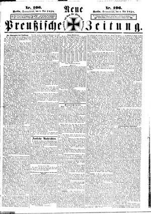 Neue preußische Zeitung vom 08.05.1858