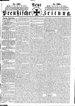 Neue preußische Zeitung vom 11.05.1858