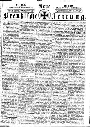 Neue preußische Zeitung vom 12.05.1858