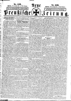 Neue preußische Zeitung vom 13.05.1858