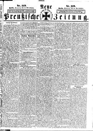 Neue preußische Zeitung vom 16.05.1858