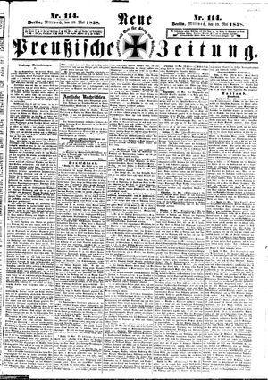 Neue preußische Zeitung vom 19.05.1858
