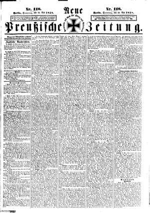 Neue preußische Zeitung on May 23, 1858