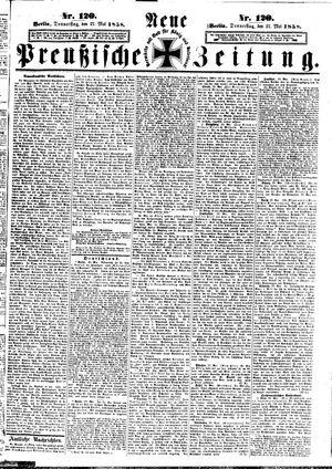 Neue preußische Zeitung on May 27, 1858