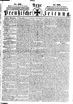 Neue preußische Zeitung vom 30.05.1858