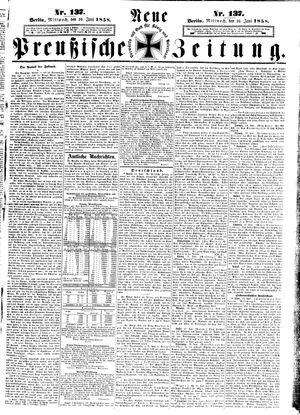 Neue preußische Zeitung vom 16.06.1858