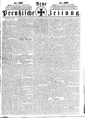 Neue preußische Zeitung vom 18.06.1858
