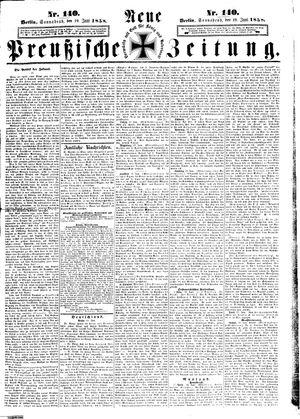 Neue preußische Zeitung vom 19.06.1858