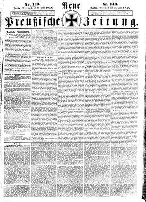 Neue preußische Zeitung vom 23.06.1858