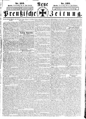 Neue preußische Zeitung vom 24.06.1858