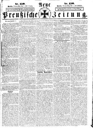 Neue preußische Zeitung vom 01.07.1858