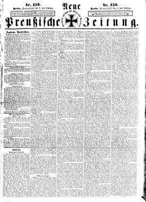 Neue preußische Zeitung vom 03.07.1858