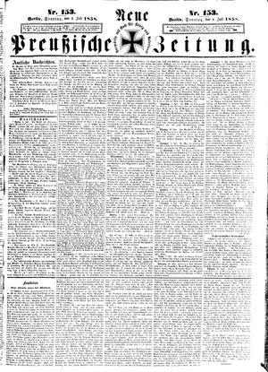 Neue preußische Zeitung vom 04.07.1858