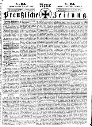 Neue preußische Zeitung vom 06.07.1858