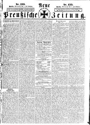 Neue preußische Zeitung vom 07.07.1858
